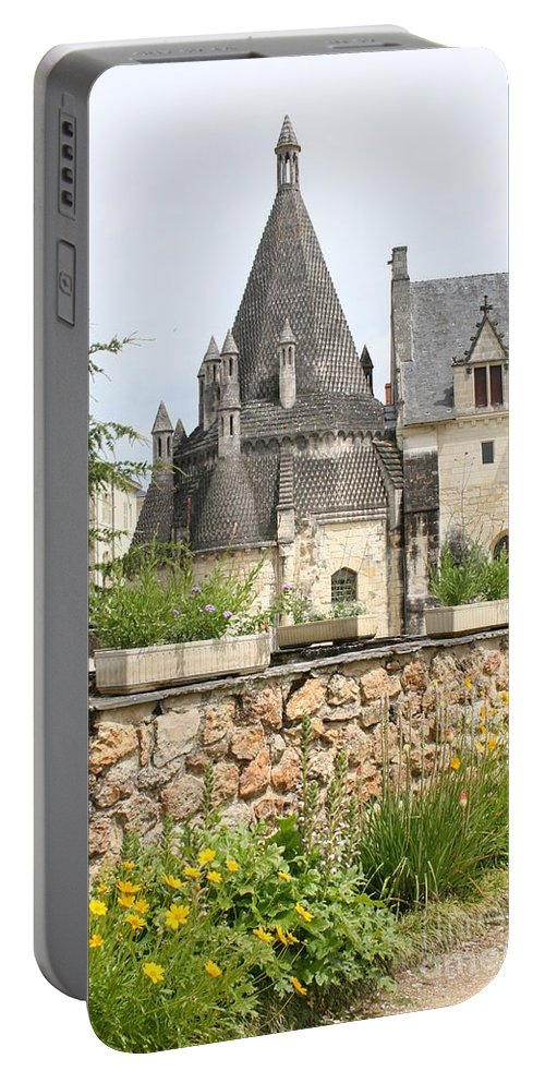 Kitchen Portable Battery Charger featuring the photograph The Kitchenbuilding Of Abbey Fontevraud by Christiane Schulze Art And Photography