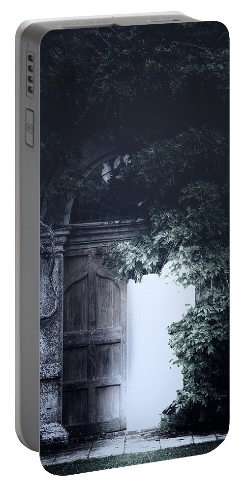 Door Portable Battery Charger featuring the photograph The Light by Joana Kruse
