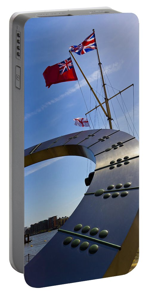 Sun Portable Battery Charger featuring the photograph The Sundial by David Pyatt