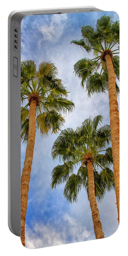 Palm Springs Portable Battery Charger featuring the photograph THREE PALMS Palm Springs by William Dey