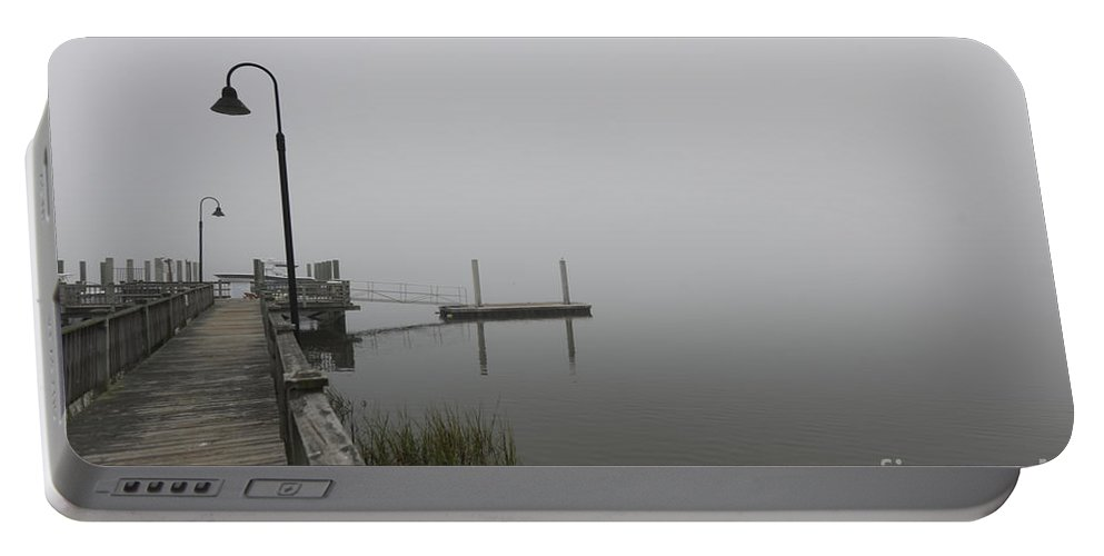 Fog Portable Battery Charger featuring the photograph Through The Fog by Dale Powell