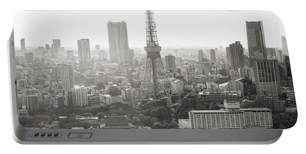 Tokyo Portable Battery Charger featuring the photograph Tokyo Tower Square by For Ninety One Days