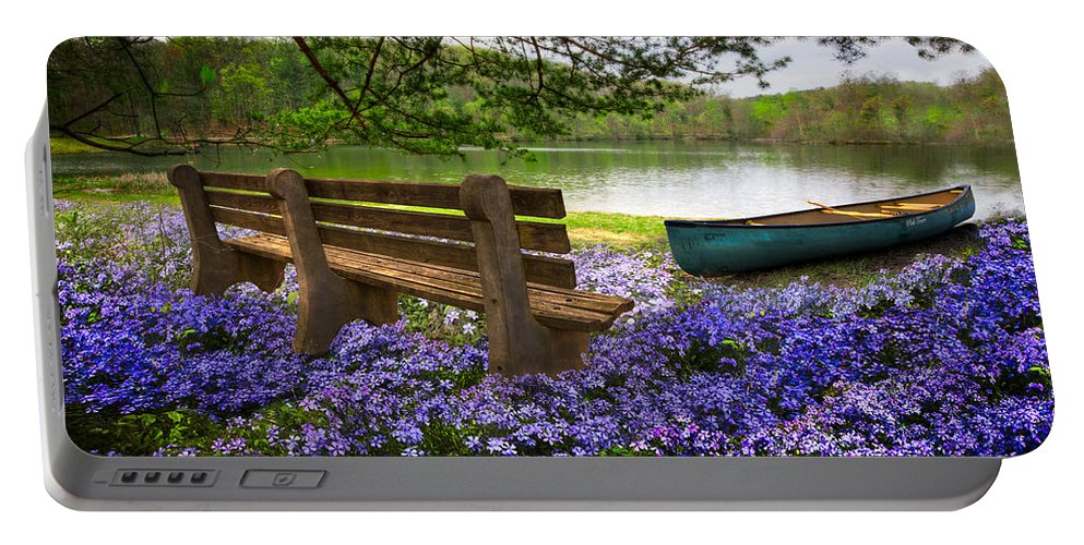 Appalachia Portable Battery Charger featuring the photograph Tranquility by Debra and Dave Vanderlaan