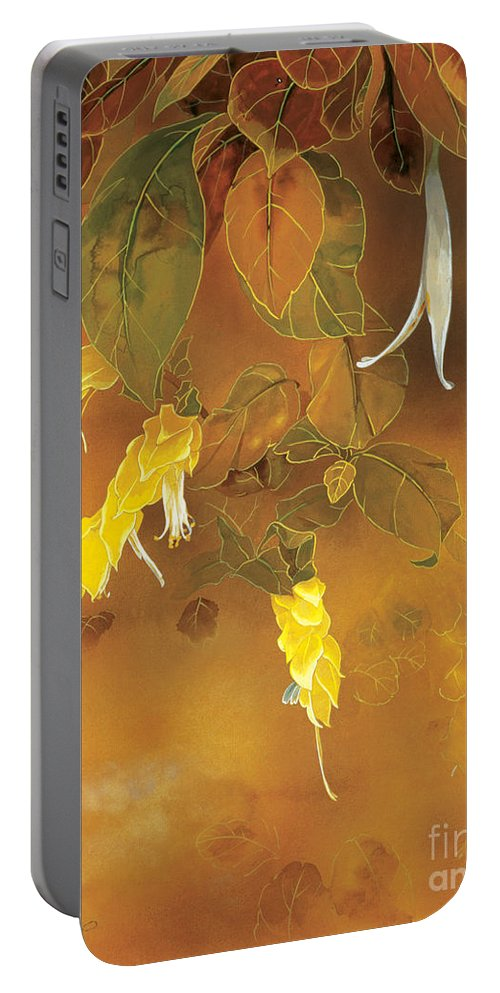Haruyo Morita Digital Art Portable Battery Charger featuring the digital art Tropical Flower by MGL Meiklejohn Graphics Licensing