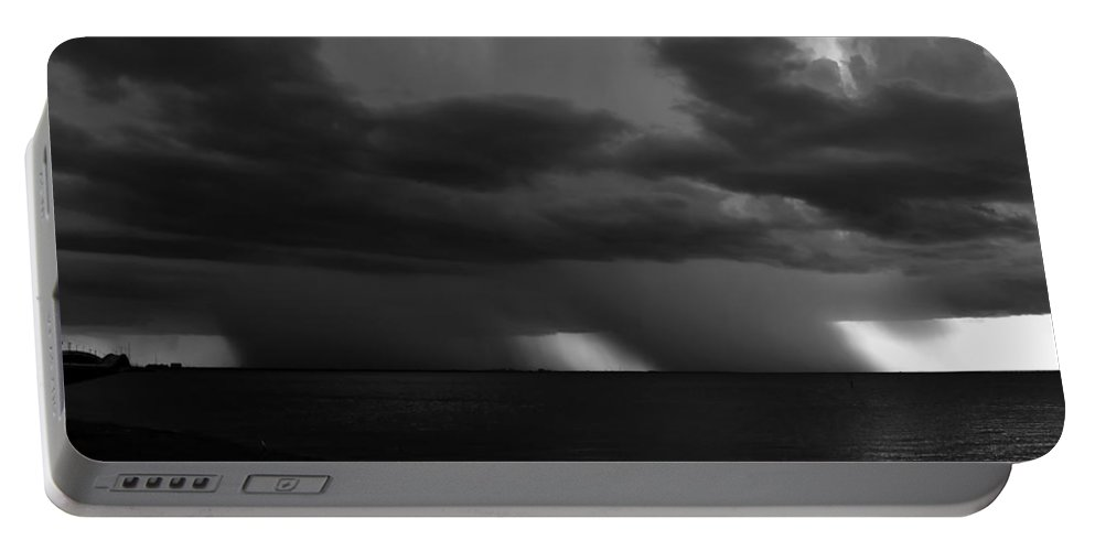 Thunder Storm Portable Battery Charger featuring the photograph Tropical Twins by David Lee Thompson