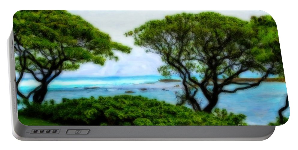 Turtle Bay Portable Battery Charger featuring the photograph Turtle Bay View by Jon Burch Photography