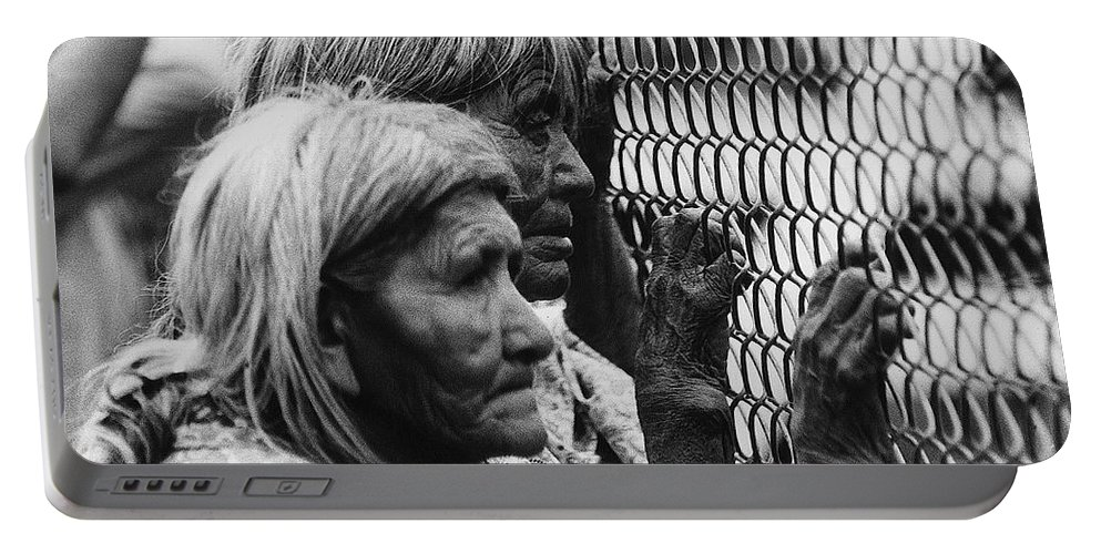 Two Elderly Apache Women Labor Day Rodeo White River Arizona 1969 Portable Battery Charger featuring the photograph Two Elderly Apache Women Labor Day Rodeo White River Arizona 1969 by David Lee Guss