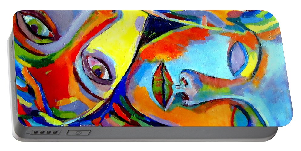 Affordable Original Paintings Portable Battery Charger featuring the painting Two Energies by Helena Wierzbicki