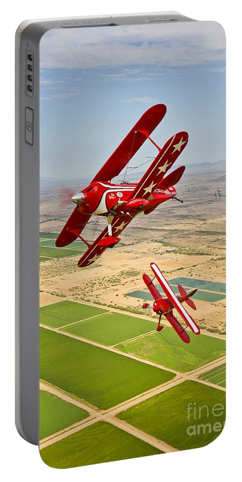 Vertical Portable Battery Charger featuring the photograph Two Pitts Special S-2a Aerobatic by Scott Germain