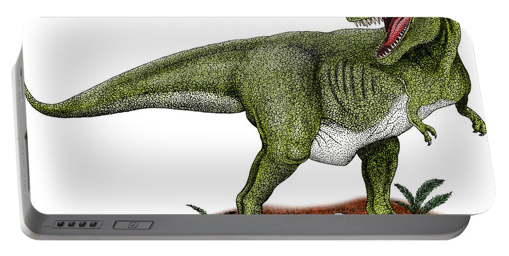 Dinosaur Portable Battery Charger featuring the photograph Tyrannosaurus Rex by Roger Hall