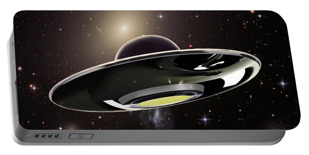 Illustration Portable Battery Charger featuring the photograph Ufo by Spencer Sutton
