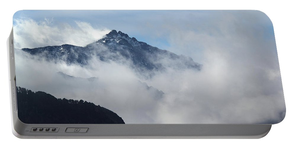 Clouds Portable Battery Charger featuring the photograph Up High by Shane Bechler