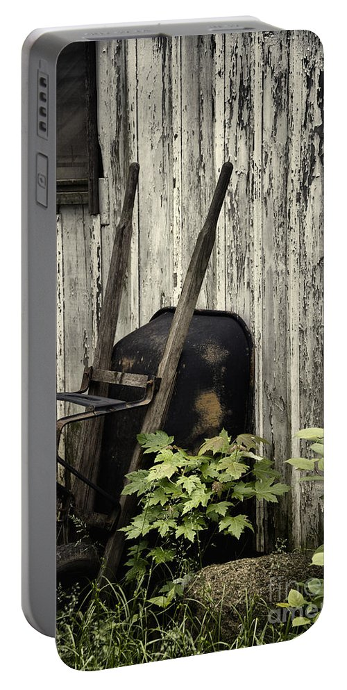 Barn Portable Battery Charger featuring the photograph Used by Margie Hurwich