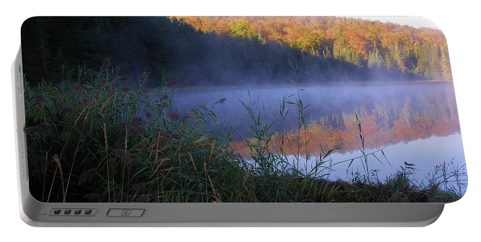 Pond Portable Battery Charger featuring the photograph Vermont Pond by Sherman Perry