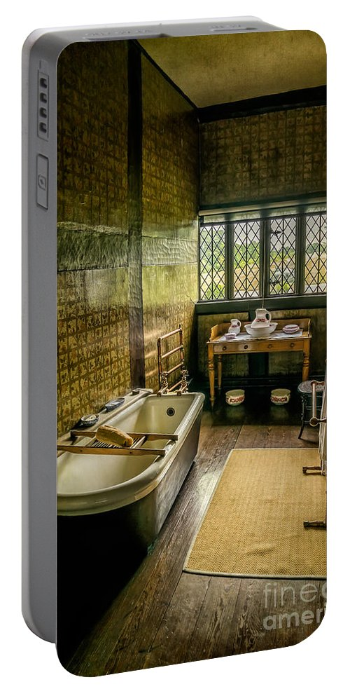 British Portable Battery Charger featuring the photograph Victorian Wash Room by Adrian Evans