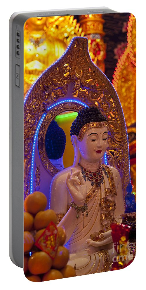 Buddha Portable Battery Charger featuring the photograph Vietnamese Temple by Jim Corwin