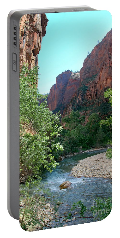 Virgin River Rapids Portable Battery Charger featuring the photograph Virgin River Rapids by Jemmy Archer