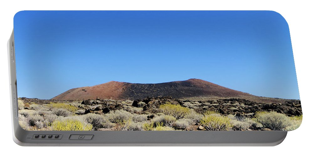 Volcano Portable Battery Charger featuring the photograph Volcanic Landscape by Karol Kozlowski