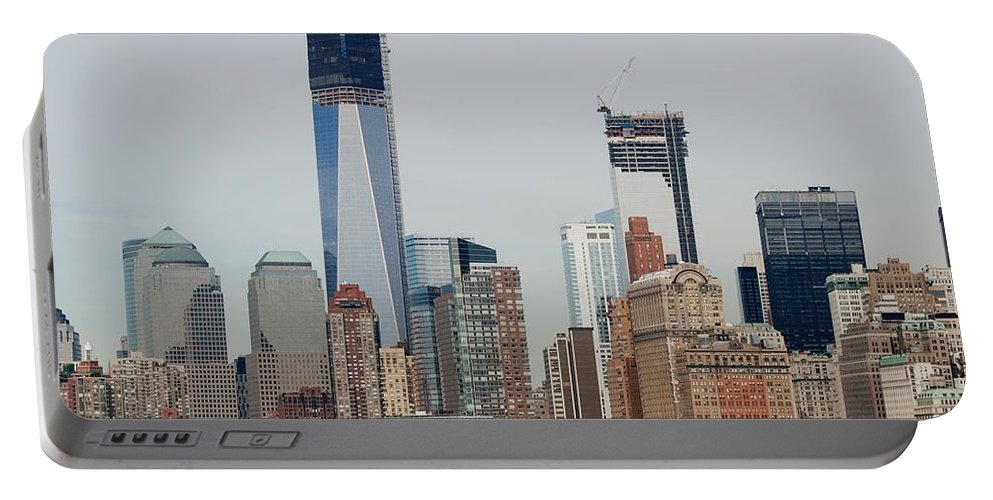 Wtc Portable Battery Charger featuring the photograph 1 W T C And Lower Manhattan by Rob Hans