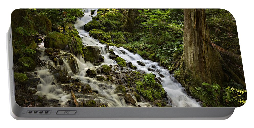 Wahkeena Creek Portable Battery Charger featuring the photograph Wahkeena Creek by Mary Jo Allen