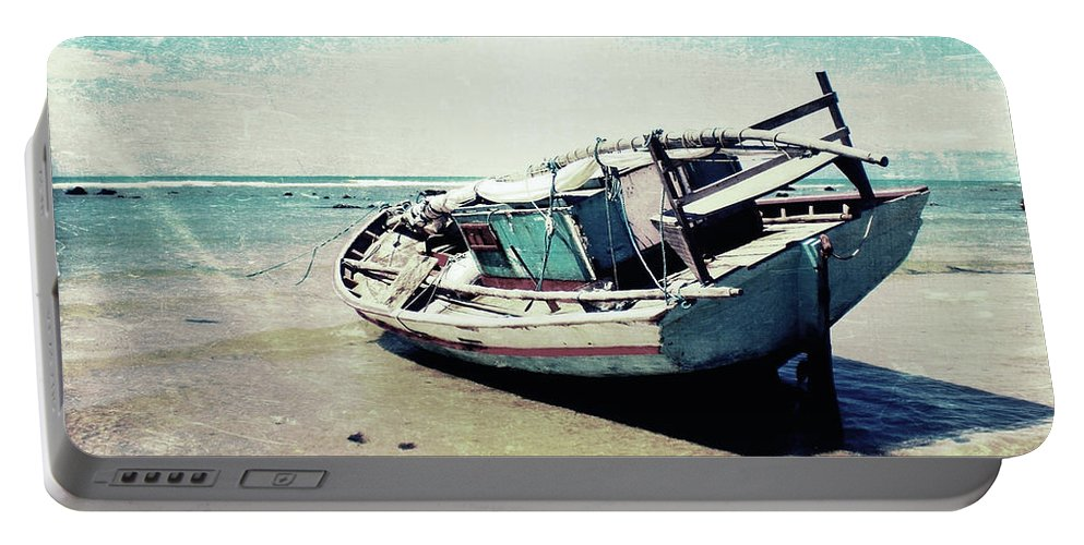 Boat Portable Battery Charger featuring the photograph Waiting For The Tide by Nicklas Gustafsson