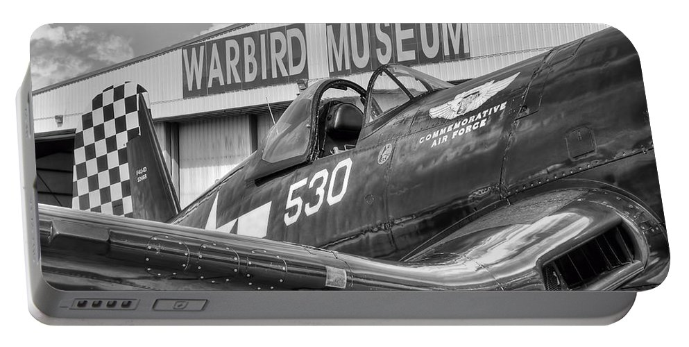 Warbird Portable Battery Charger featuring the photograph Warbird Museum by David Hart