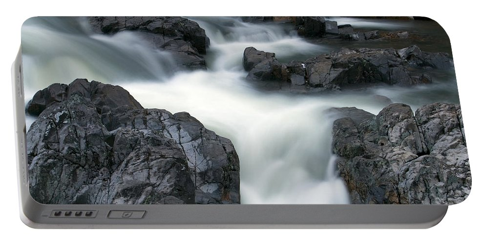 Beautiful Portable Battery Charger featuring the photograph Water Over Rocks by Scott Sanders