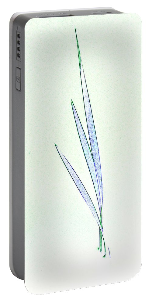 Reed Portable Battery Charger featuring the digital art Water Reed Art by David Pyatt