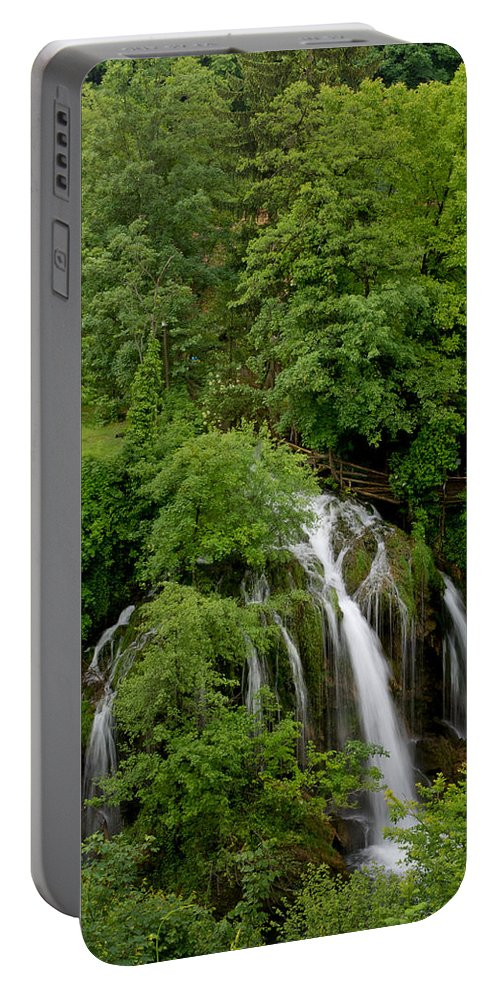 Landscape Portable Battery Charger featuring the photograph Waterfall by Josip Horvat