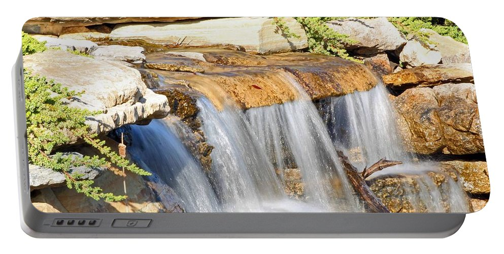Waterfall Portable Battery Charger featuring the photograph Waterfall by Stephanie Hanson