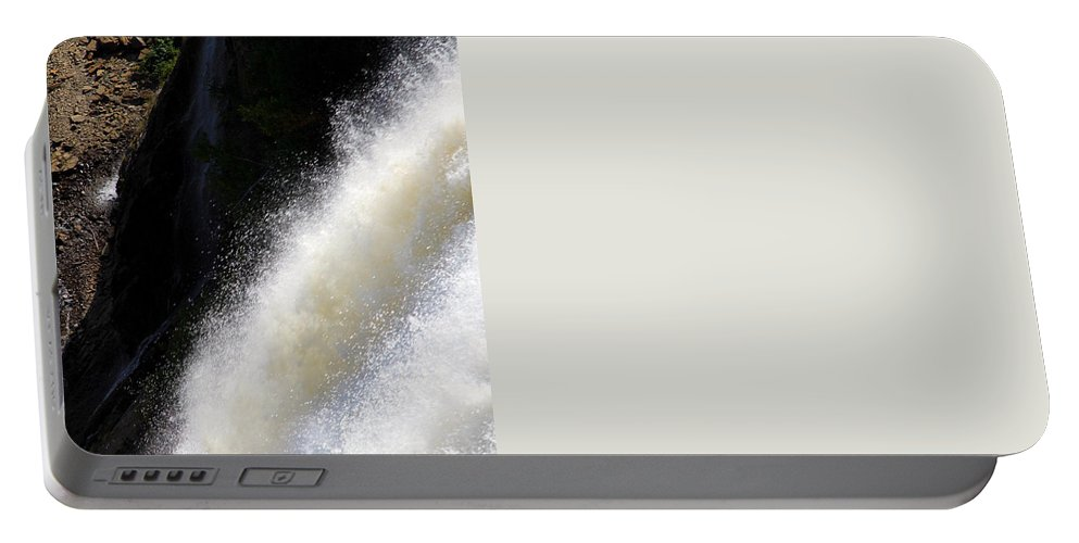 Waterfall Portable Battery Charger featuring the photograph Waterfall by Valentino Visentini