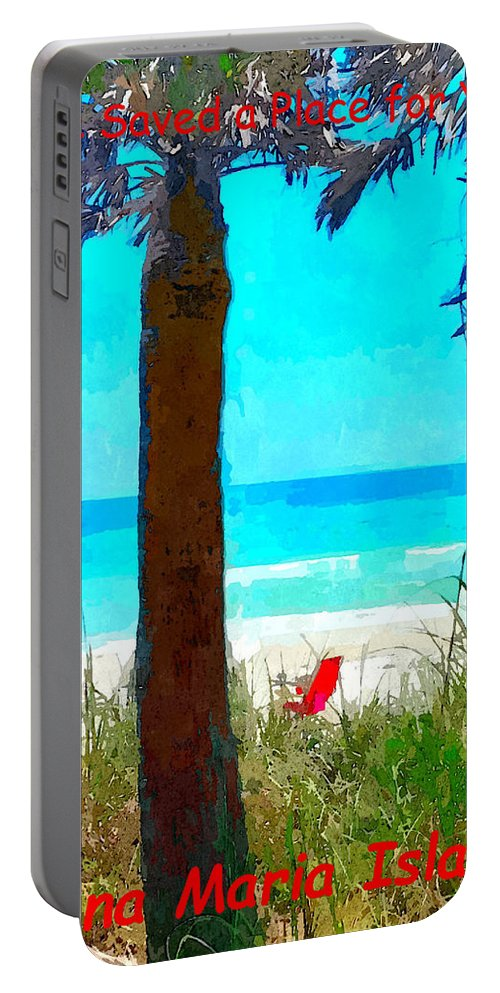 we Saved A Place For You Portable Battery Charger featuring the photograph We Saved A Place For You by Susan Molnar