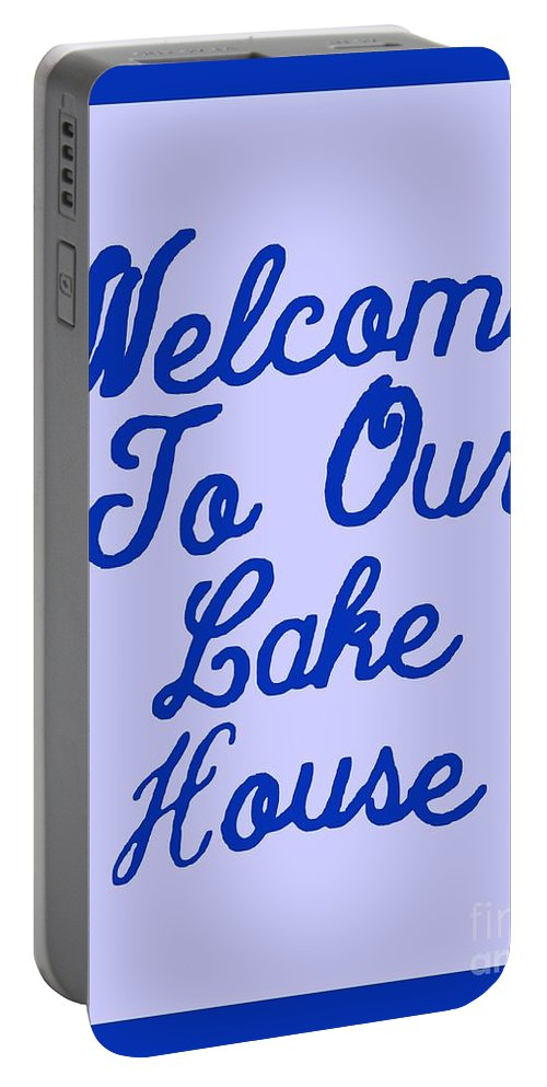 Macro Portable Battery Charger featuring the photograph Welcome To Our Lake House by Joseph Baril