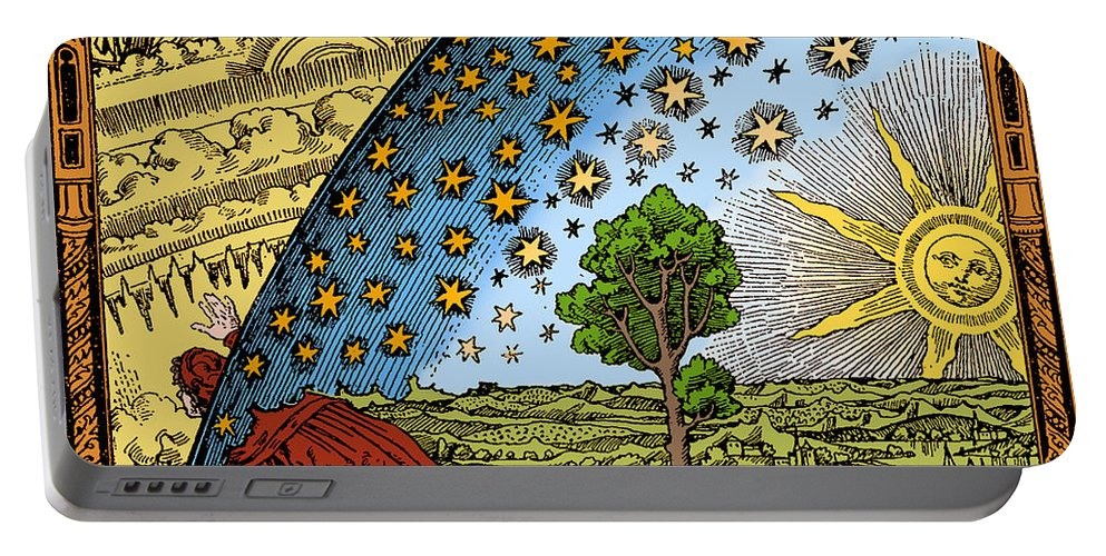History Portable Battery Charger featuring the photograph Where Heaven And Earth Meet 1888 by Science Source