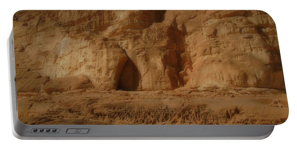 Colette Portable Battery Charger featuring the photograph White Canyon Sinai Desert Egypt by Colette V Hera Guggenheim