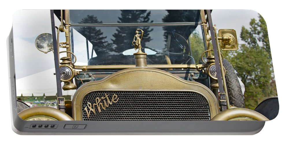 Antique Portable Battery Charger featuring the photograph White Motors by Jack R Perry