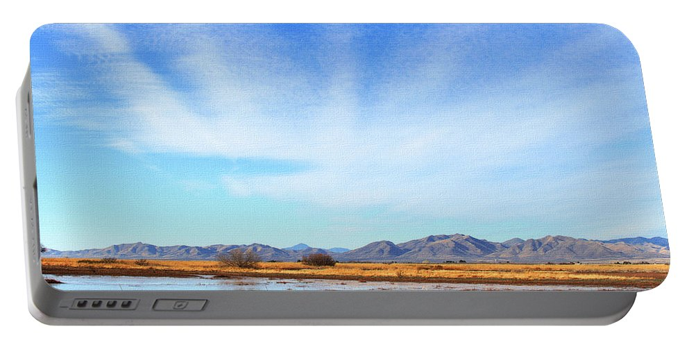 White Water Draw Preserve Portable Battery Charger featuring the photograph White Water Draw Preserve by Tom Janca