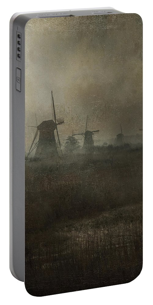 Mill Portable Battery Charger featuring the photograph Windmills by Joana Kruse