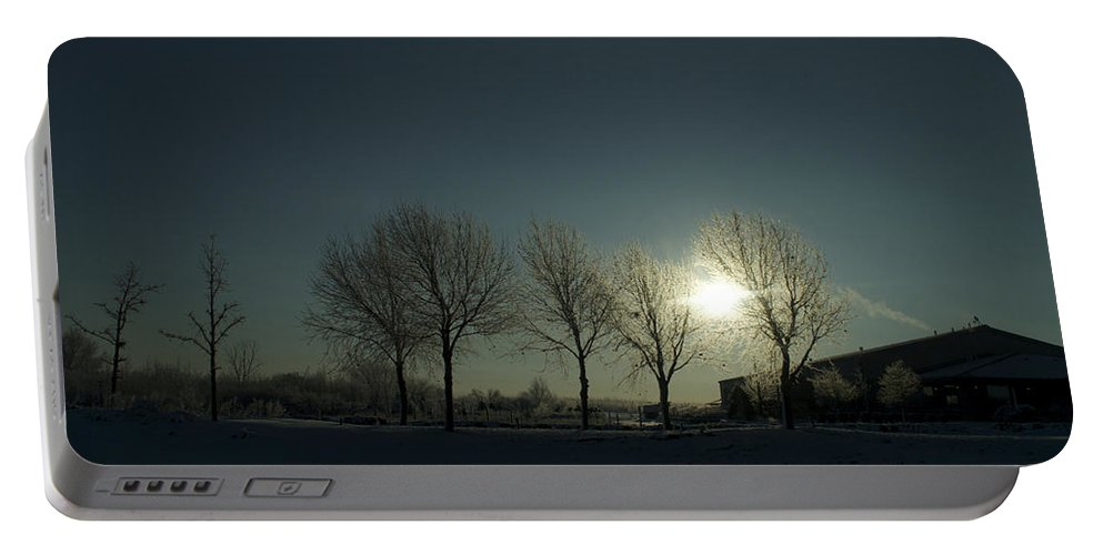 Sunrise Portable Battery Charger featuring the photograph Winter Sunrise 2014 02 by Thomas Woolworth