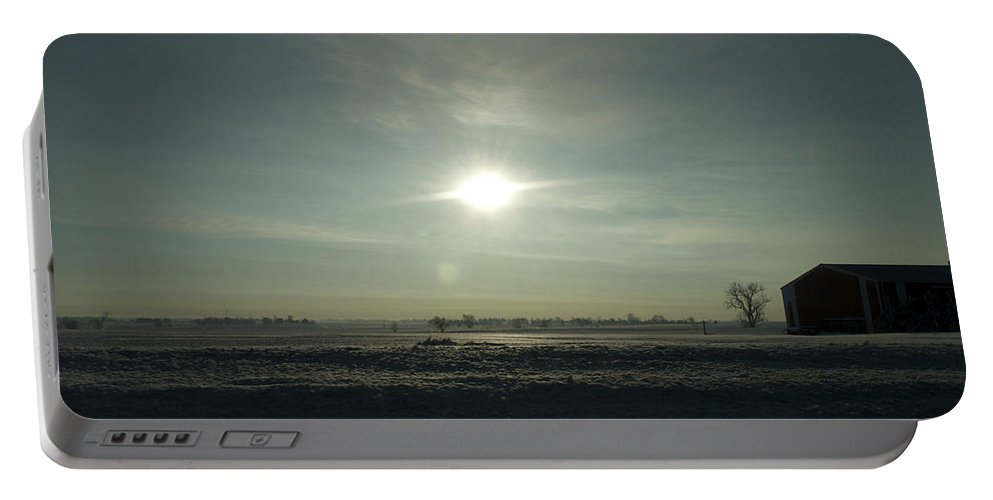 Sunrise Portable Battery Charger featuring the photograph Winter Sunrise 2014 03 by Thomas Woolworth
