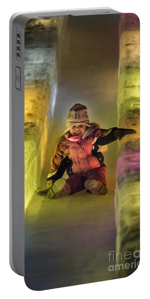 Alaska Portable Battery Charger featuring the photograph World Ice Art Championships, Child by John Shaw