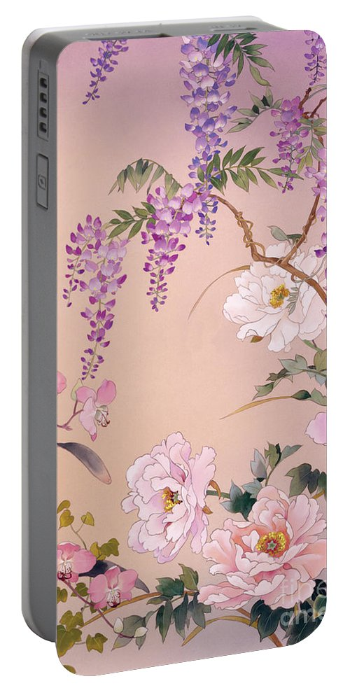 Haruyo Morita Digital Art Portable Battery Charger featuring the digital art Yoi by Haruyo Morita