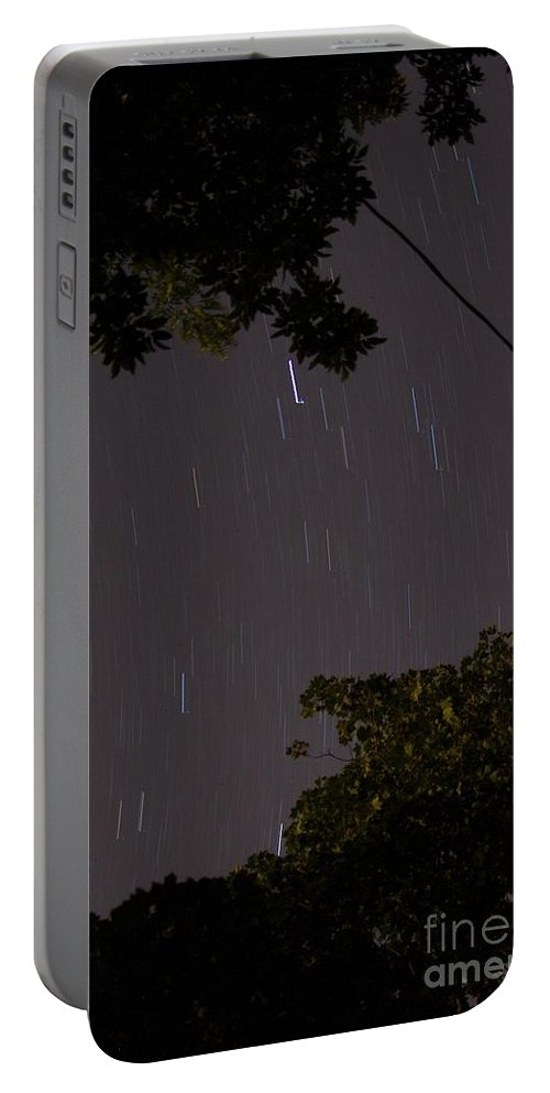 Long Exposure Portable Battery Charger featuring the photograph 10 Min Exp Starry Night by Lori Amway