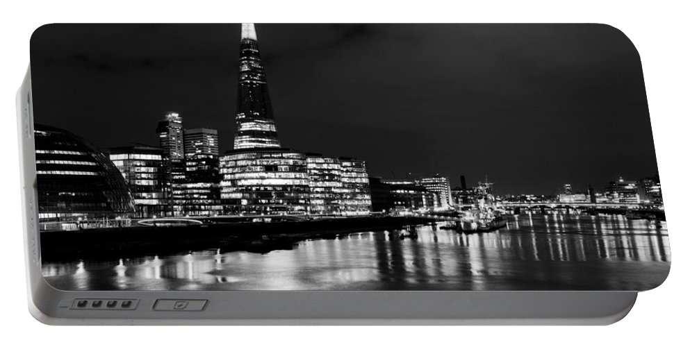 Shard Portable Battery Charger featuring the photograph The Shard And Southbank London by David Pyatt