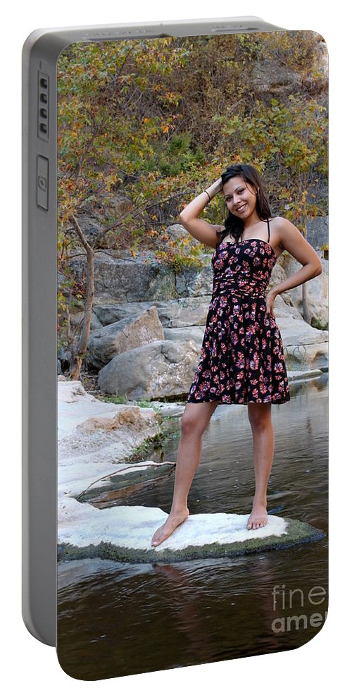 Young Portable Battery Charger featuring the photograph Young Hispanic Woman by Henrik Lehnerer