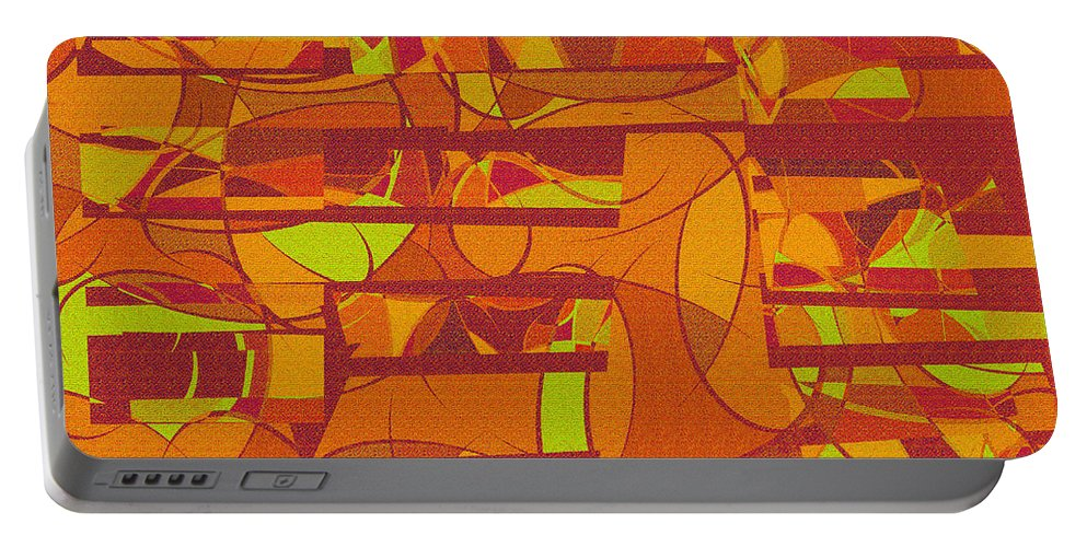 Abstract Portable Battery Charger featuring the digital art 1045 Abstract Thought by Chowdary V Arikatla