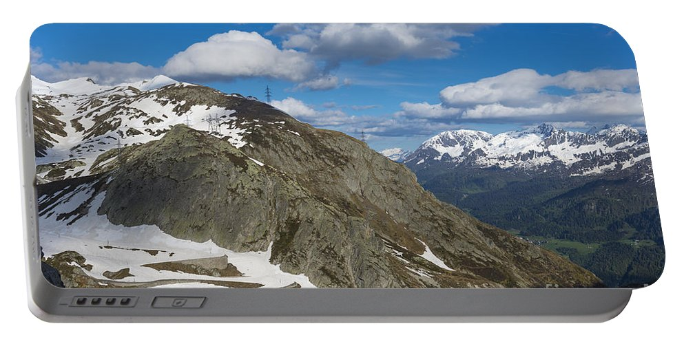 Mountain Road Portable Battery Charger featuring the photograph Mountain Road by Mats Silvan
