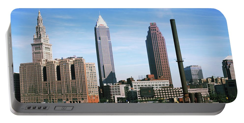 Photography Portable Battery Charger featuring the photograph Skyscrapers In A City, Philadelphia by Panoramic Images