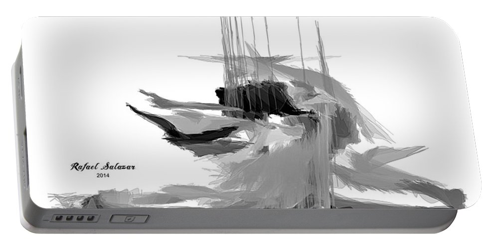 Abstract Portable Battery Charger featuring the digital art Abstract Series I by Rafael Salazar