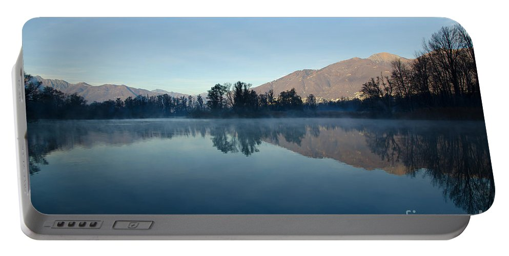 Trees Portable Battery Charger featuring the photograph Alpine Lake by Mats Silvan